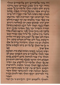 Megillat Esther written on Gewil