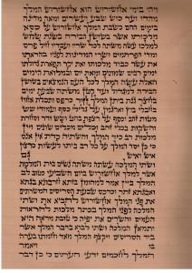 Megillat Esther written on Gewil