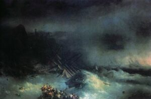 a tempest at sea - tempest-shipwreck-of-the-foreign-ship-1855