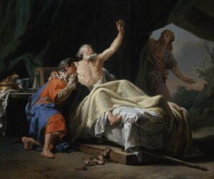 Isaac Blessing Jacob - Nicolas-Guy Brenet